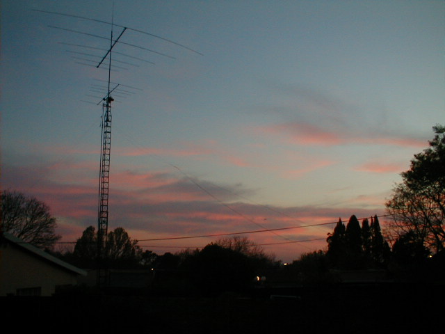 The antennas from the house next door